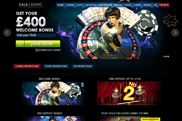 Gala Casino screen shot