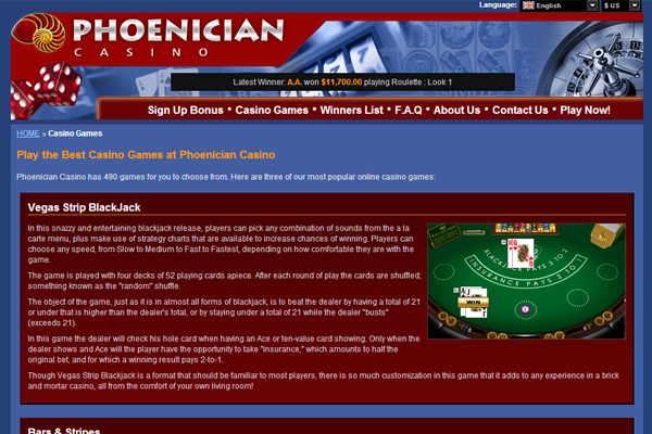 Phoenician Casino screen shot