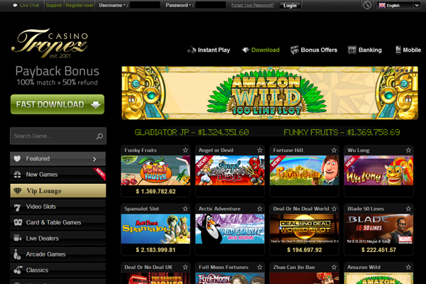 Casino Tropez screen shot