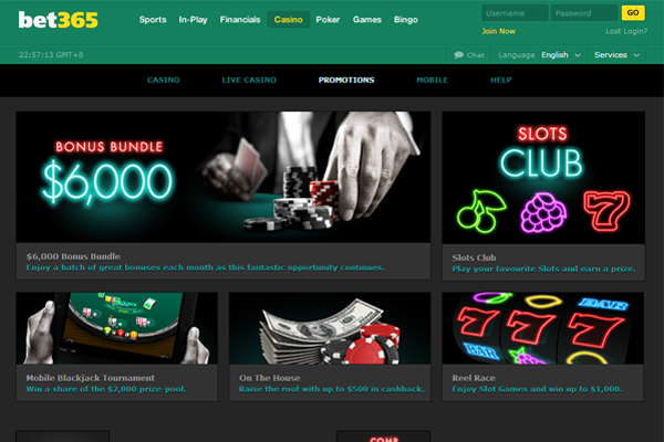 bet365 Casino screen shot