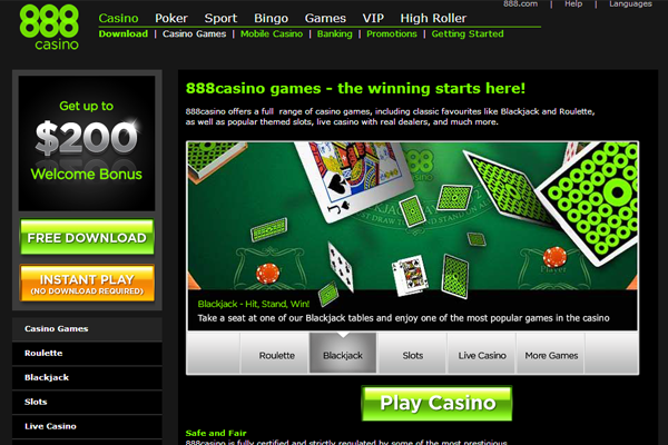 888 Casino screen shot