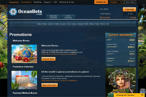 OceanBets screen shot
