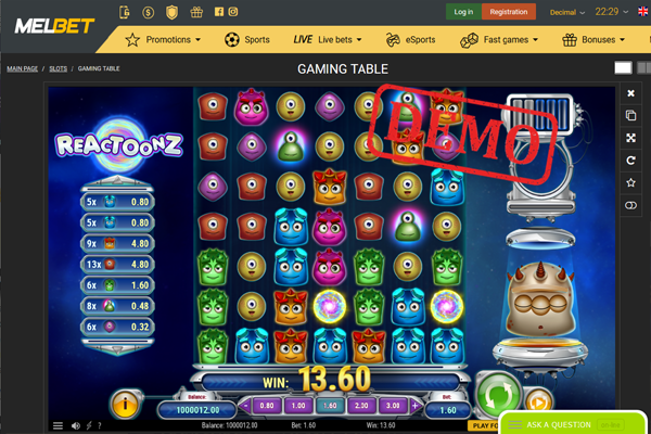 MelBet Casino screen shot