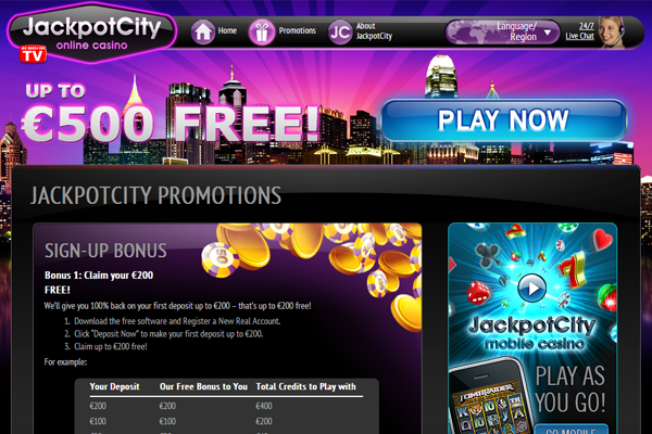 Jackpot City screen shot